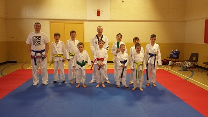 The Juniors and Adults, following the coloured belt grading