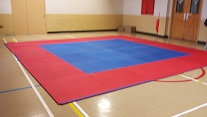 The new mats, ready for action.