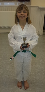 Millie, with her 'Star Performer' award.