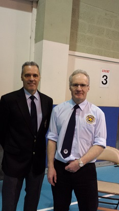 Simon, with GM Andy Davies at the UK Invitational champs.